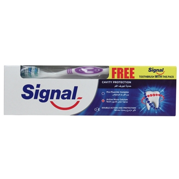 Signal Toothpaste 100 ml  + Toothbrush Free  Protection