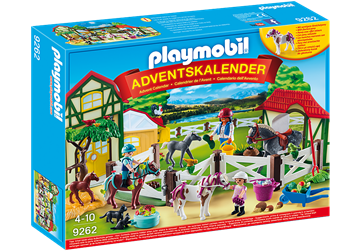 PLAYMOBIL Adventskalender 9262 - Reiterhof