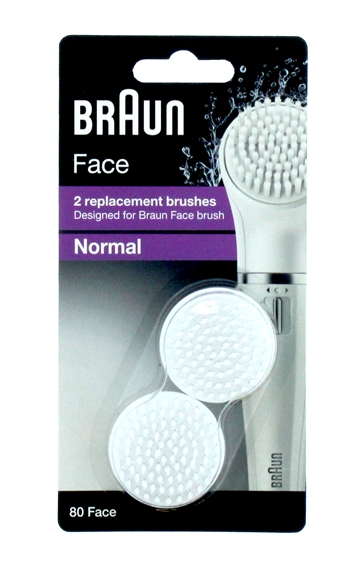 Braun Normal Replacement Brushes Face 80 X2