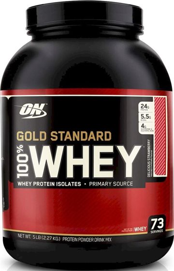Optimum Nutrition 100 Whey Gold 2.27 kg delicious strawberry