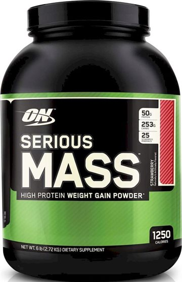 Optimum Nutrition Serious Mass 2.72kg strawberry