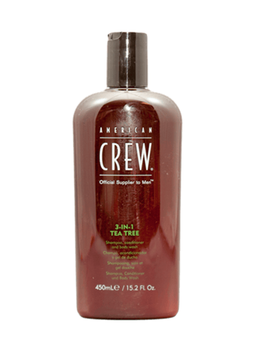 American Crew Tea Tree  3-in-1 shampoo, conditioner and body wash, 450 ml