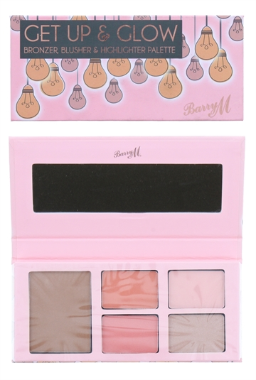 Barry M Get Up & Glow Bronzer, Blusher & Highlighter Palette
