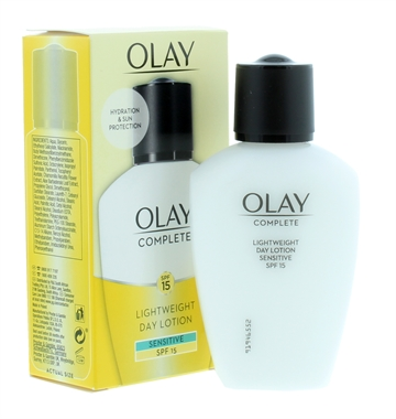 Olay 100ml Essentials Day Fluid Complete Care Sensitive Skin Spf15