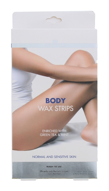 Revitale Body Wax Strips 12'S For Normal & Sensitive Skin