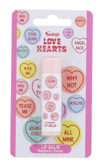 Swizzels Love Hearts 4G Lip Balm Raspberry