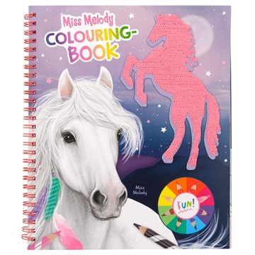 Miss Melody - Colouring Book w/Sequins (411163)