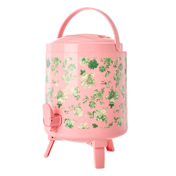 Rice - Cooler Tank 8 L - Pink Green w. Rose Print