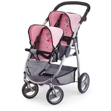 Bayer - Twin Pram - Grey (26508AA)