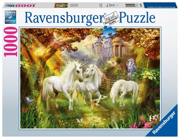 Ravensburger - Puzzle 1000 - Unicorns in the Forest (10215992)