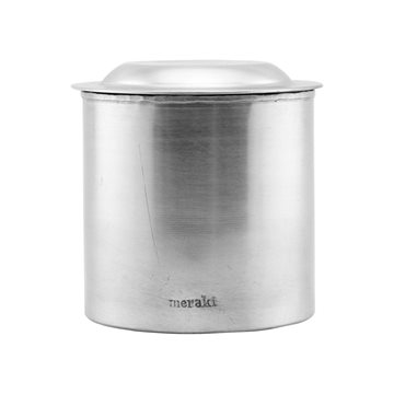 Meraki - Jar With Lid Large - Silver Finish (303820005)