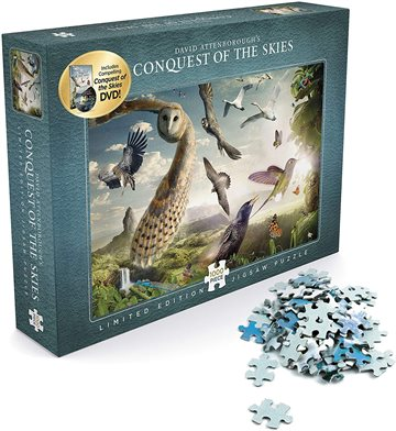 David Attenborough - Conquest of the Skies - Puzzle 1000 + DVD