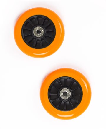 My Hood - 2 Wheels for Trick Scooters 100 mm - Orange/Black (505083)