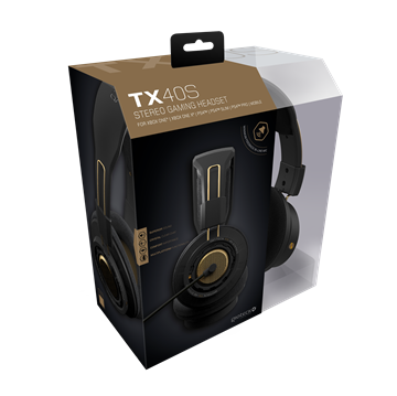 Gioteck TX-40 S Wired Stereo Gaming Headset (Black/Bronze)