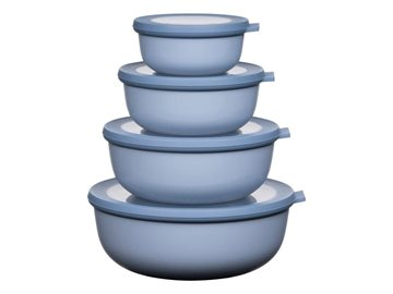 Mepal - Cirqula Low Bowl Set Of 4 - Nordic Blue (233102)