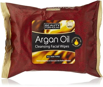 Beauty Formulas Facial Wipes Argan Oil 30S
