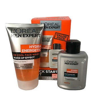 L'Oréal Men Expert By L^Oreal Kick Start Kit Hydra Energetic Face Wash And Post Shave Gel