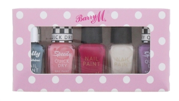 Barry M Nail Polish 5Pc Set Assorted
