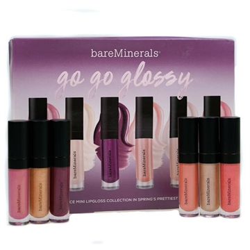 Bare Minerals Mini Lip Gloss 6Pc  Smooth Talker, Rose Quartz, Dare Devil, Show Off & Sweet Talker