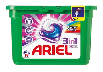 Ariel 3In1 Pods Colour 19'S