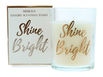 Candlelight 220G Shine Rose Gold Candle