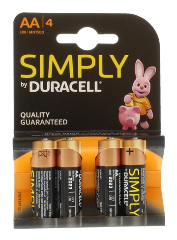 Duracell Aa Simply 4'S