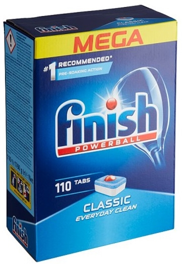 Finish Powerball Dishwasher Tablets 110' Classic