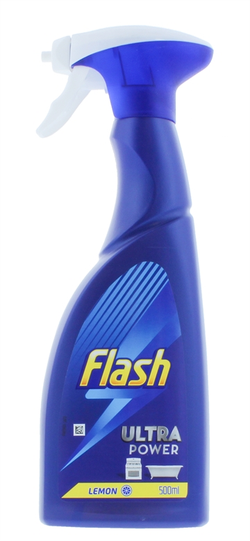 Flash 500ml Ultra Power Spray Cleaner Lemon