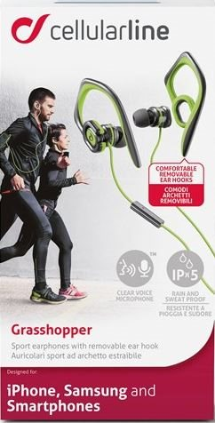 Sports - Earplugs for Smartphone, Green