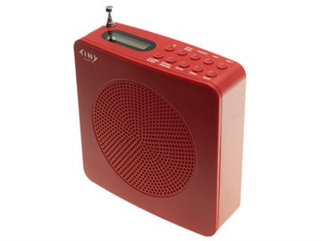 Tiny Audio Travel, DAB+/FM radio, red