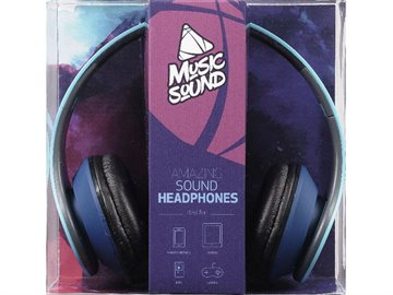 Musicsound stereo Headphoneer Blue