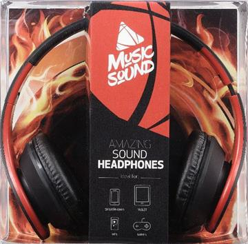 Musicsound stereo Headphoneer red