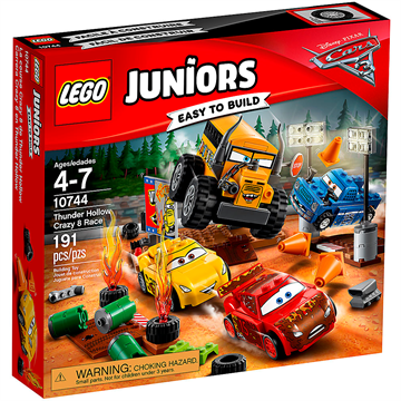 Lego Juniors Cars 10744 Crazy 8 Rennen in Thunder Hollow