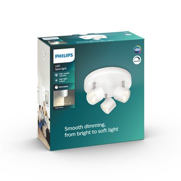 Philips Dimmbare LED Star Dreier-Spotleuchte