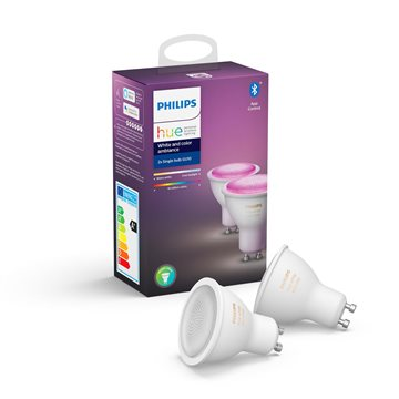 Philips Hue White and Color ambiance Doppelpack GU10