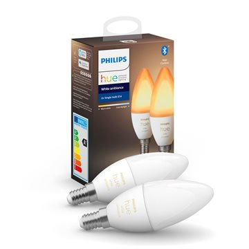 Philips Hue White ambience Doppelpack, E14