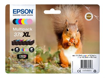 Epson 378XL C13T37984010 CMYKLCLM Multipack Tintenpatroneer, 830 sider