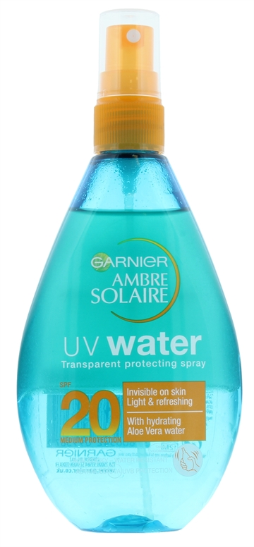 Ambre Solaire 150ml Uv Water Transparent Spray Spf 20