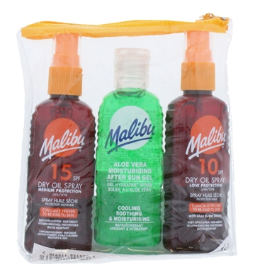 Malibu Spray&100ml Aftersun Tan Maximizer 2X100ml 3Pk