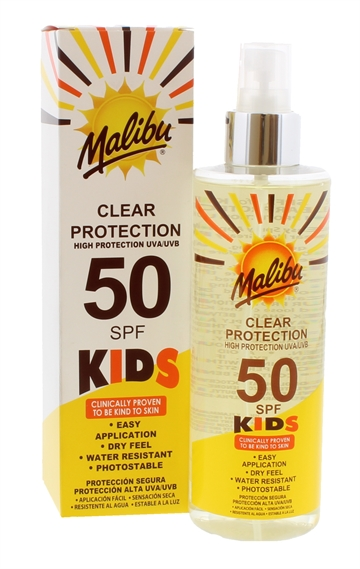 Malibu Spf50 Kids Clear  250ml
