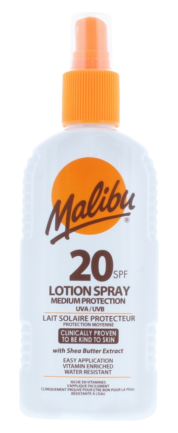 Malibu 200ml Spf 20 Lotion Spray