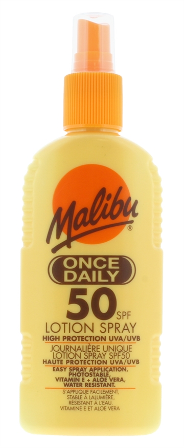 Malibu 200ml Spf 50 Once Daily Lotion Spray