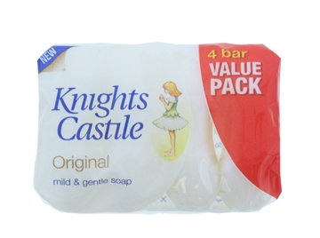 Knights Castile 4X90G Soap Value Pack