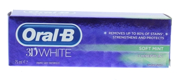 Oral B 75ml Toothpaste 3D White Soft Mint