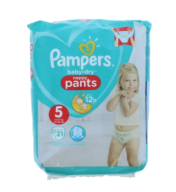 Pampers Baby Dry Nappy Pants Size 5 21'S