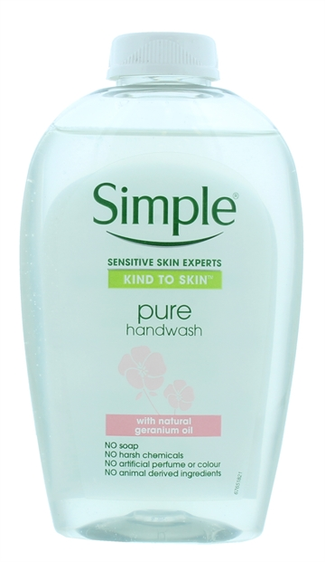 Simple 250ml Hand Wash Pure With Geranium Oil