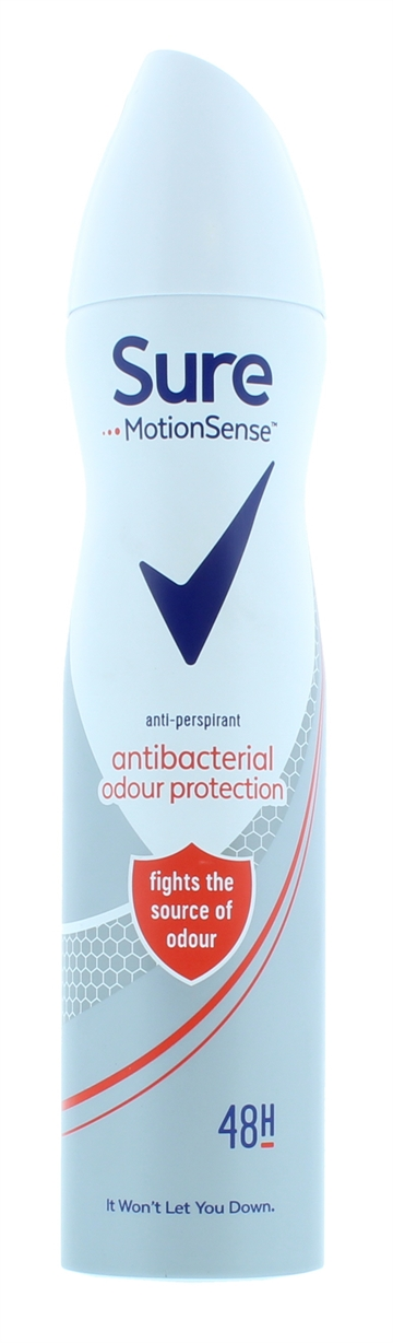 Sure 250ml Antiperspirant Spray Women Anti-Bacteria