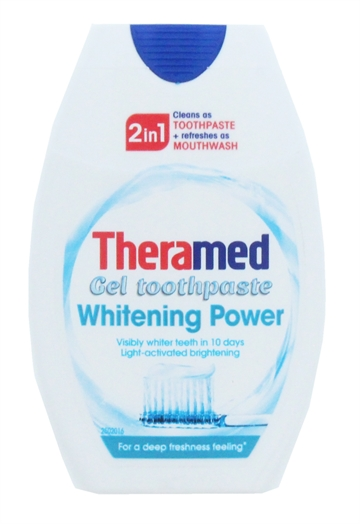 Theramed 75ml 2In1 Toothpaste & Mouthwash Whitening Power