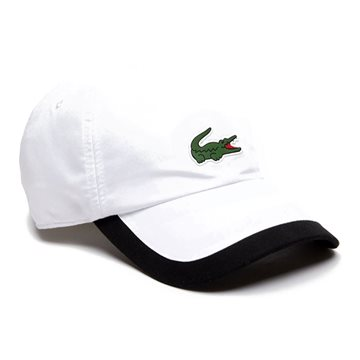 LACOSTE Sport Contrast Border Lightweight White / Black One Size