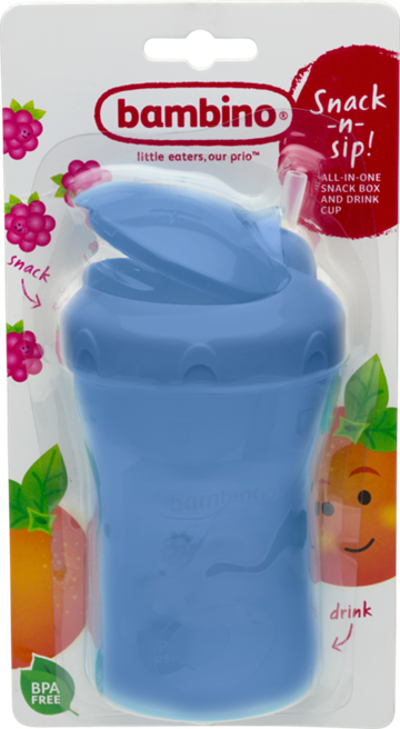Bambino Snack-n-sip! CUP assorterede farver